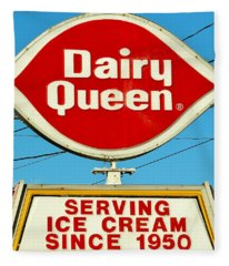 Dairy Queen Sign Fleece Blanket