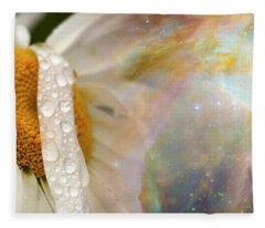 Daisy With Hubble Cosmos Fleece Blanket