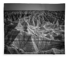 Dakota Badlands Fleece Blanket