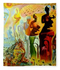 Dali Oil Painting Reproduction - The Hallucinogenic Toreador Fleece Blanket