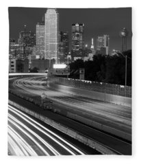 Dallas Arrival Bw Fleece Blanket