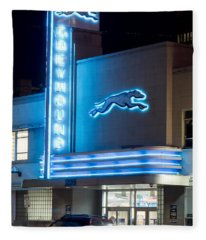Dallas Greyhound V2 020915 Fleece Blanket