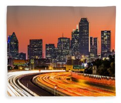 Dallas Sunrise Fleece Blanket