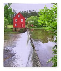 Dam At Starrs Mill Fleece Blanket