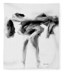 Fleece Blanket featuring the digital art Dance Moves II by Rafael Salazar