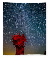Dance Of The Star Serpent Fleece Blanket