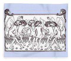 Dancing Fairies From 1896 Fleece Blanket
