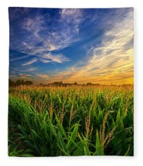 Dancing In The Rows Fleece Blanket