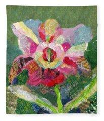 Dancing Orchid II Fleece Blanket
