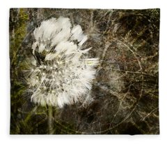 Dandelions Don't Care About The Time Fleece Blanket