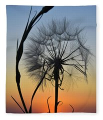 Fleece Blanket featuring the photograph Dandy Lion by Skip Hunt