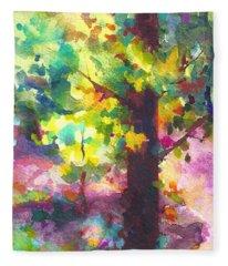 Dappled - Light Through Tree Canopy Fleece Blanket