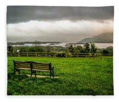 Dark Clouds Over Killarney Lakes Fleece Blanket