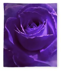 Dark Secrets Purple Rose Fleece Blanket