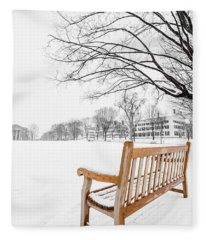 Fleece Blanket featuring the photograph Dartmouth Winter Wonderland by Edward Fielding