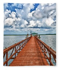 Daufuskie Pier Fleece Blanket