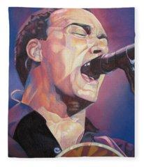 Dave Matthews Colorful Full Band Series Fleece Blanket