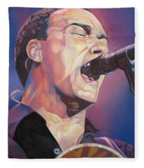 Dave Matthews Colorful Full Band Series Fleece Blanket