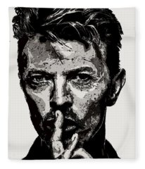 David Bowie - Pencil Fleece Blanket