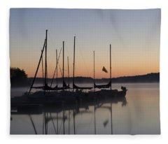 Dawn On Lake Nockamixon - Bucks County Pa Fleece Blanket