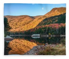 Dawn Over Kinsman Notch Fleece Blanket