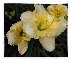 Day Lilies A Short Life Fleece Blanket