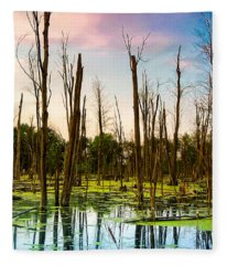 Daylight In The Swamp Fleece Blanket