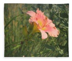 Daylily In The Sun Fleece Blanket