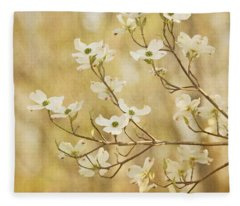 Days Of Dogwoods Fleece Blanket