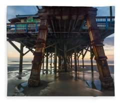 Daytona Beach Shores Pier Fleece Blanket