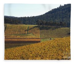 golden vines-Victoria-Australia Fleece Blanket