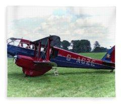 De Havilland Dragon Rapide Fleece Blanket