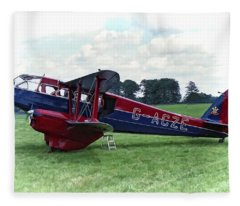 De Havilland Dragon Rapide Fleece Blanket