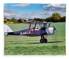 De Havilland Tiger Moth 2 Fleece Blanket