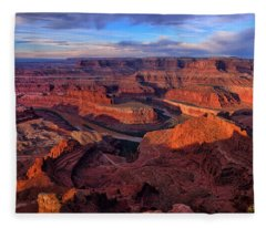 Dead Horse Point Sunrise Fleece Blanket