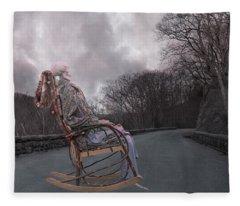 Dead Man's Curve Fleece Blanket