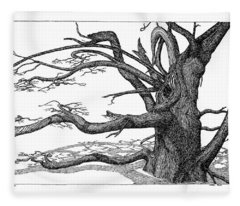 Dead Tree Fleece Blanket