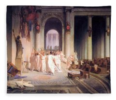 Death Of Caesar Fleece Blanket