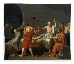 Death Of Socrates Fleece Blanket
