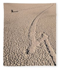 Death Valley Racetrack California Fleece Blanket