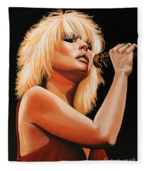 Deborah Harry Or Blondie 2 Fleece Blanket