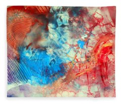 Decalcomaniac Colorfield Abstraction Without Number Fleece Blanket