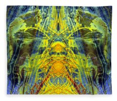 Decalcomaniac Intersection 1 Fleece Blanket
