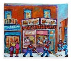 Decarie Hot Dog Restaurant Ville St. Laurent Montreal  Fleece Blanket