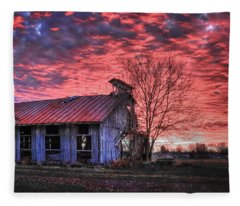 December At Bristol Park Fleece Blanket