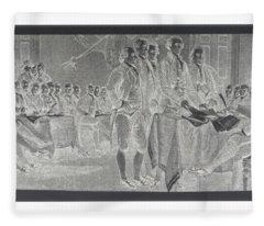 Declaration Of Independence In Negative Fleece Blanket