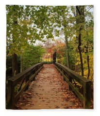 Decorate With Leaves - Holmdel Park Fleece Blanket