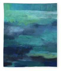 Tranquility- Abstract Painting Fleece Blanket