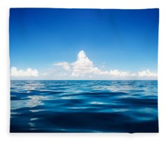 Deep Blue Fleece Blanket