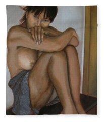 Deep In Thought Fleece Blanket